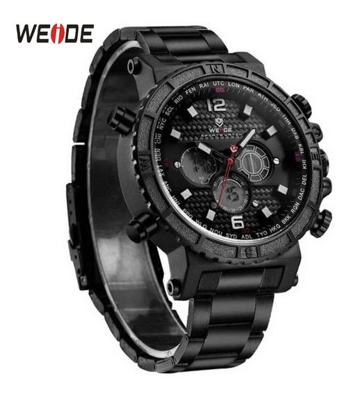 Relógio Original Weide 6305 Aço Inoxidavel Presente Amigo