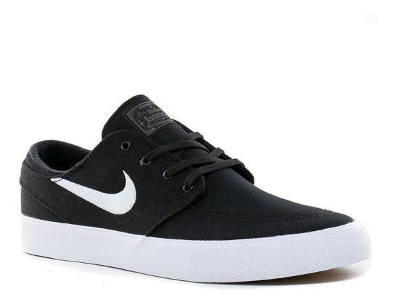 Zapatillas Nike Sb Janoski Rm Black-white Remasterized Lona