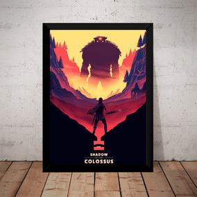 Quadro Game Shadow Of The Colossus Arte Moldurada