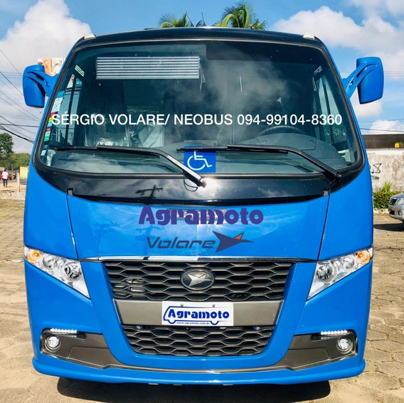 Micro Ônibus Volare Fly 10 Executivo Dta Cor Azul Ano 2019