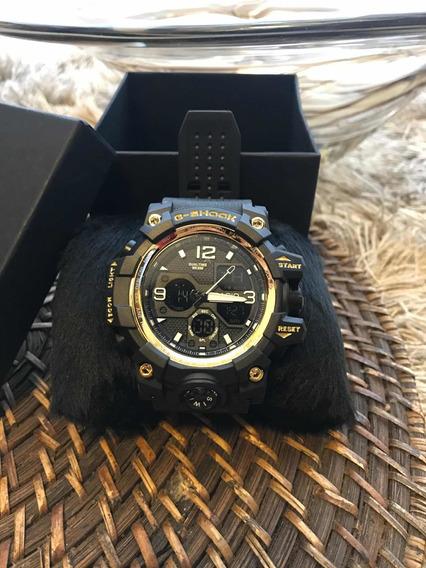 Relógio G-shock Novo!!Masculino Preto E Dourado