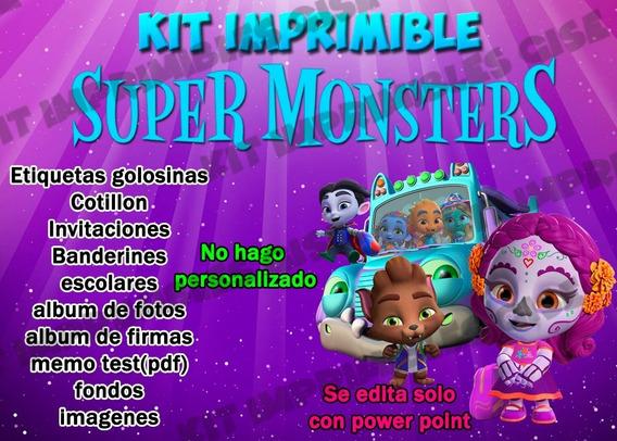 Kit Imprimible Super Monstruos