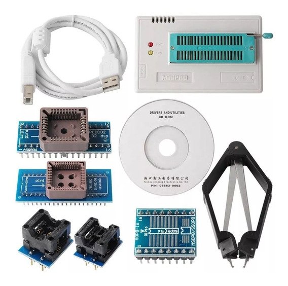 Gravador Programador De Eprom Minipro Ti866 Ii + Adaptadores