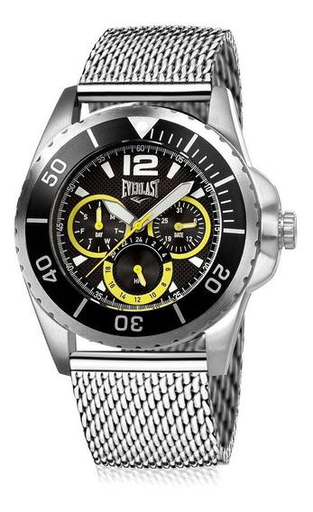 Relógio Everlast Masculino Caixa E Pulseira De Aço Dia A Dia