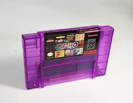 Cartucho Super Nintendo 110 Jogos Em 1 Bateria Sunset Riders