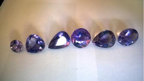 6 Pedras Ametistas Para Montagem De Joias, Frete Grátis