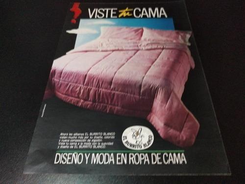 (pb802) Publicidad Clipping Ropa De Cama El Burrito Blanco