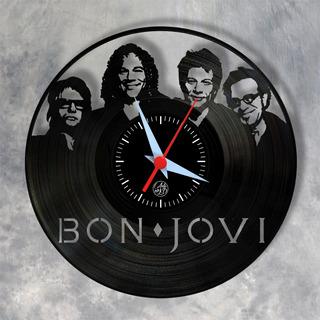 Bon Jovi Relógios Parede Vinil Disco Arte No Lp Banda Rock