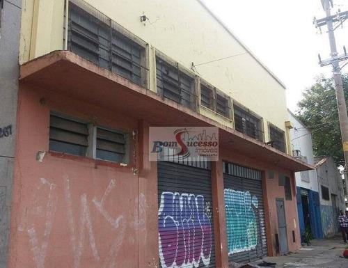 Imagem 1 de 4 de Galpão À Venda, 500 M² Por R$ 1.490.000,00 - Barra Funda - São Paulo/sp - Ga0158