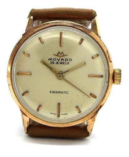 Relógio De Pulso Movado Kingmatic Folheado A Ouro 18k J23079
