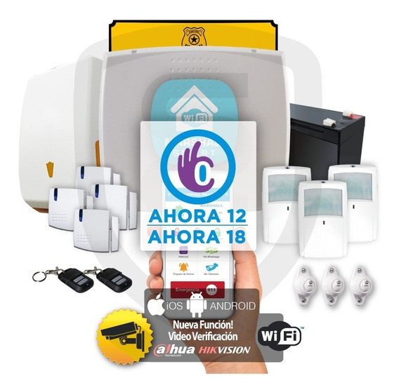 Kit Alarma Inalámbrica Marshall 3 Ip Wifi Aplicación Celular Marshall Smart Domiciliaria Hogar Casa Comercio Kit7x6