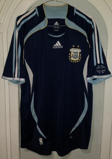 Jersey Argentina 2o Uniforme Año 2006 adidas Talla L-grande