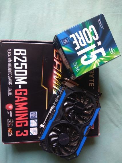 Processador Intel Core I5-7400 Quad-core + B250m Gaming 3