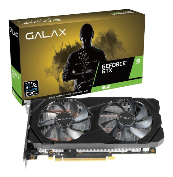 Placa De Vídeo Galax Gtx 1660 Oc One Click 6gb Ddr5 192 Bits