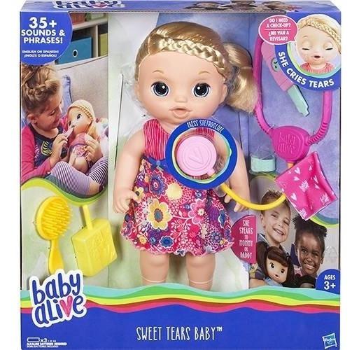 Baby Alive Doces Lágrimas Loira Promoção Por Tempo Limitado