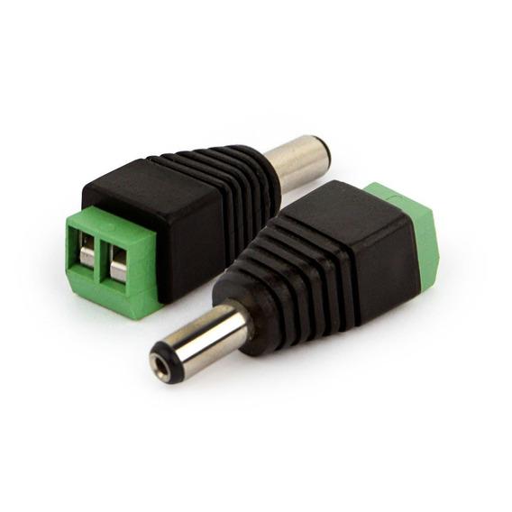 Kit Pacote 50 Plug Conector P4 Macho P/ Cftv Camera Borne