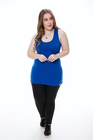 Musculosa Basica Deportiva Mujer Modal C Licra Talle Grande