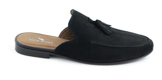 Sapato Main Shoes Mule Bambolim Preto