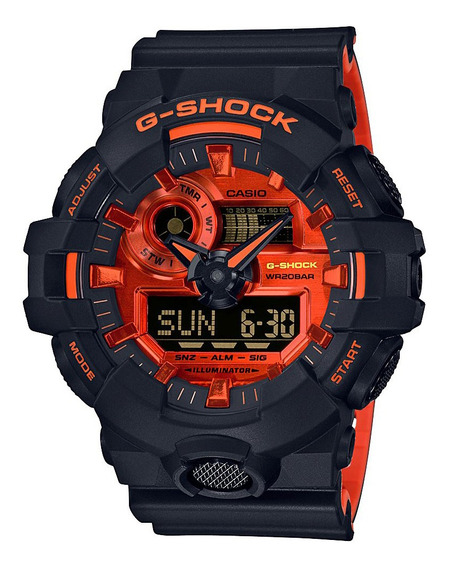 Relógio Casio G-shock Masculino Laranja Ga-700br-1adr
