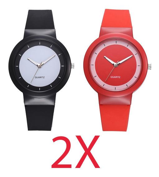 Paquete 2 Relojes Sport Unisex