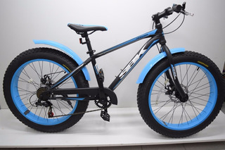Bicicleta Sbk Fat Bike R24 7v Disco Envío Todo País
