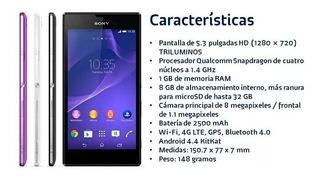 Celular Sony Xperia T3 D5106 -vitrine Detalhe Preto Original