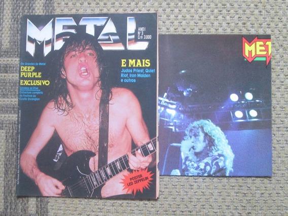 Revista Metal Nº 3 * Ac/dc, Iron, Purple, Judas Priest, Riot