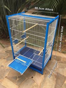 Gaiola Calopsita Agapornis Periquitos Aves Mansas Azul
