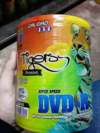 Dvd Virgen 8x 100 Disco Marca Tigers