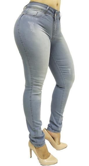 Calça Jeans Feminina Skinny Com Lycra Levanta Bumbum Bleff