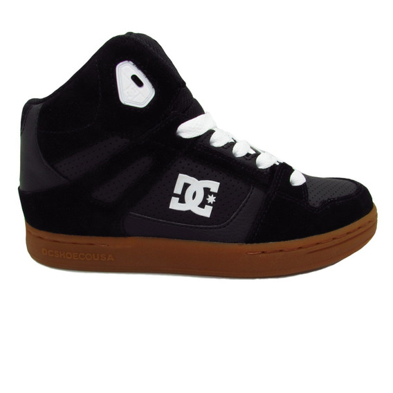 Tenis Dc Shoes Rebound Youth 302676b Bgm Black Gum Piel