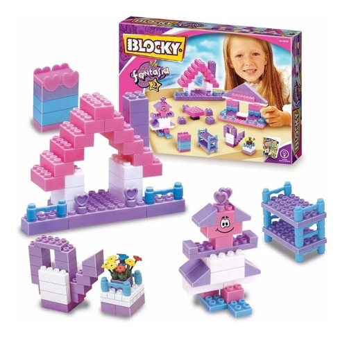 Blocky Fantasia 2 Para Nenas Con 150 Piezas Bloques Ladrillo