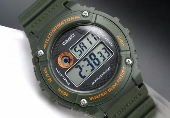 Relógio Masculino Casio Digital - W-216h-3bvdf Novo