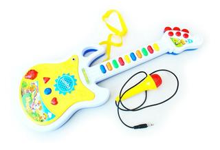 Guitarra Electrónica Micrófono Luz Canciones Sonidos Regalo
