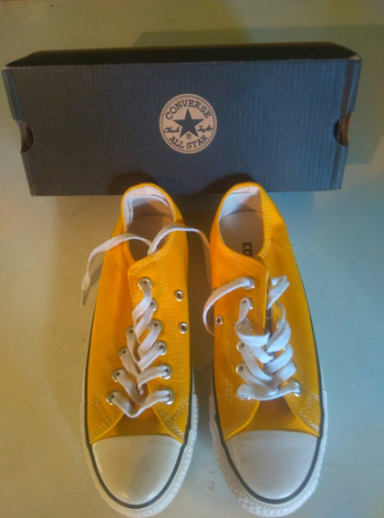 Zapatos Converse Damas Amarillo (talla 37)