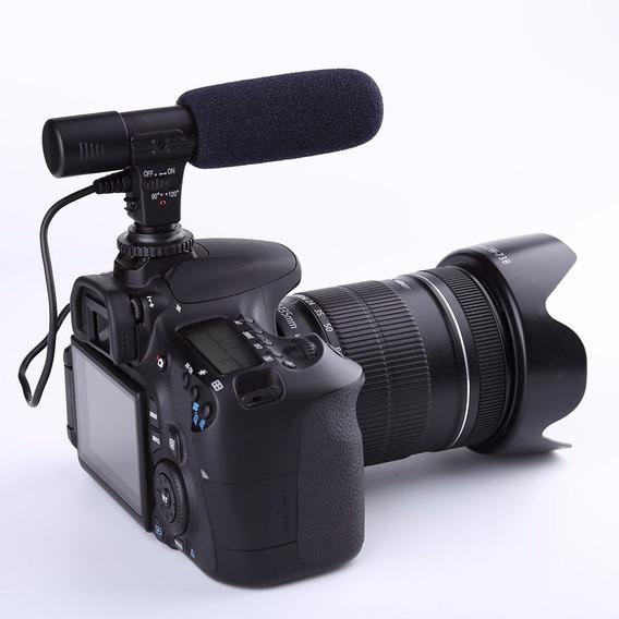 Microfone P/ Camera Dslr Canon Nikon Mic 01 Sidande