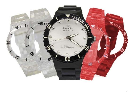 Relógio Feminino Champion Troca Pulseiras Cp38086r / 77410