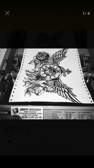 Impressora Epson Lq 890-decalque Tatoo 24 Agulhas Semi Nova