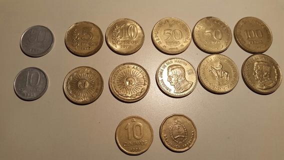 Monedas Argentinas 77 Al 83 Y 10 Ctvs. De Austral.lote Compl