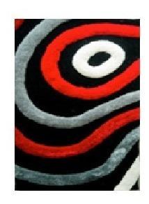 Alfombra Scala 100% Poliester 120x180cm Tonos Rojo/grises 3d