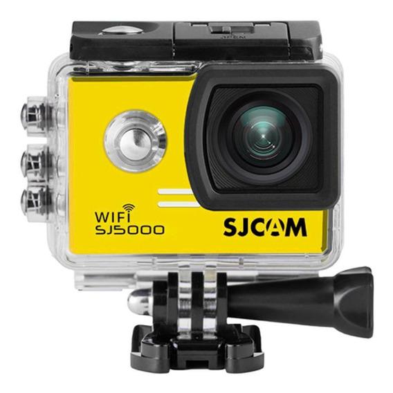 Câmera Filmadora Full Hd Wifi 14mp 4k Sjcam Sj5000 Amarela