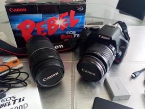 Cámara Canon Eos Rebel Incluye Lentes 18-55 Y 75-300mm