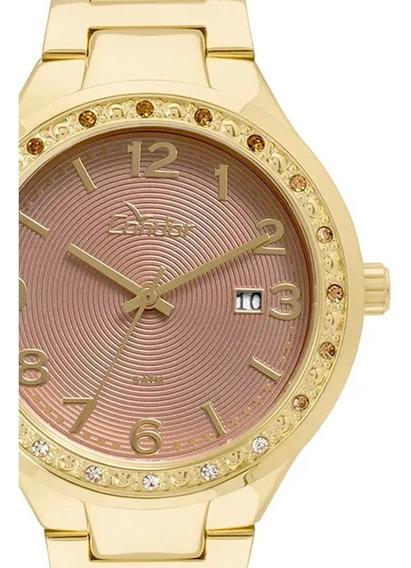 Relógio Condor Feminino Dourado 18k Eterna Co2115up/4f C/ Nf
