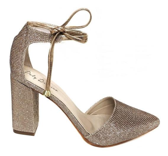 Sapato Scarpin Amarração Salto Fino Ou Grosso Várias Cores
