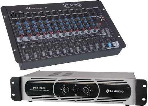 Mesa Starmix 1202 12 Canais + Potência Pro2600 650 W Nca
