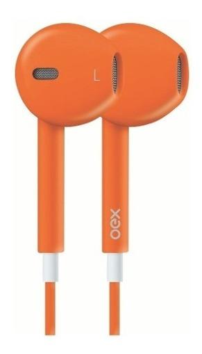 Fone De Ouvido Colormood Laranja Hands Free Microfone Oex