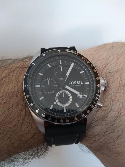 Relógio Fóssil Decker Ch2573 Chonografo Quartz *novo* Lindo