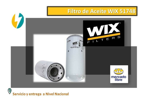 Filtro De Aceite Ford Cargo 1721. Wix51748