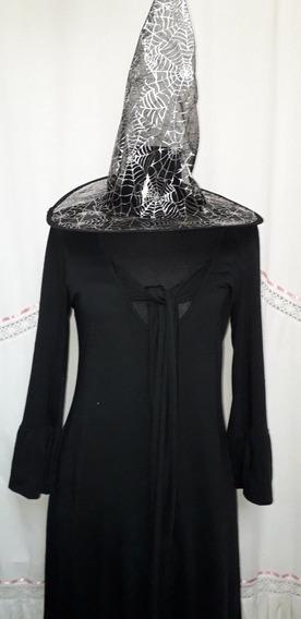 Disfraz Halloween Vestido Bruja Mujer Adulta Usado