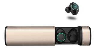 Auriculares De Bluetooth Manos Libres Base De Carga X9 Oro